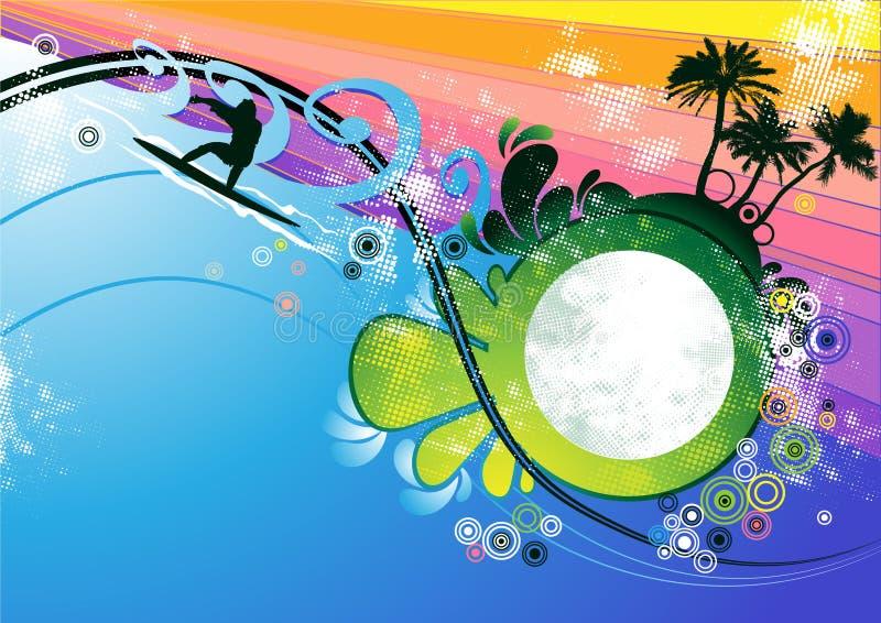 Surfer background vector stock illustration