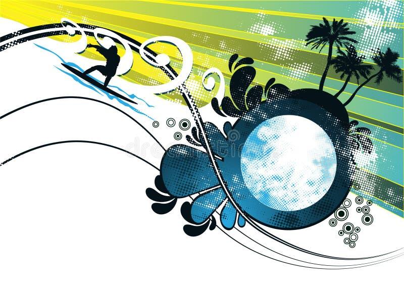 Surfer background vector royalty free illustration