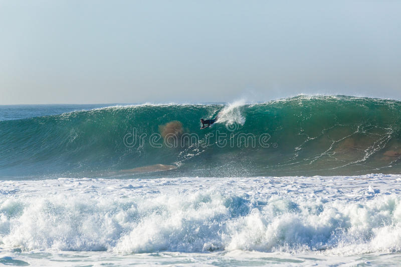 Surfer Body Boarding Surfing stock image