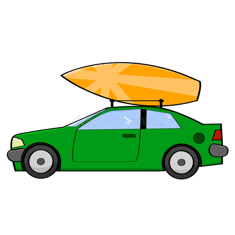 Free Surfer Car Royalty Free Stock Images - 38329649