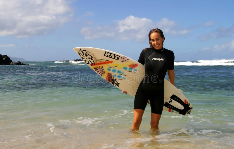 Download Surfer Cecilia Enriquez With Surfboard Editorial Stock Image - Image: 14674934