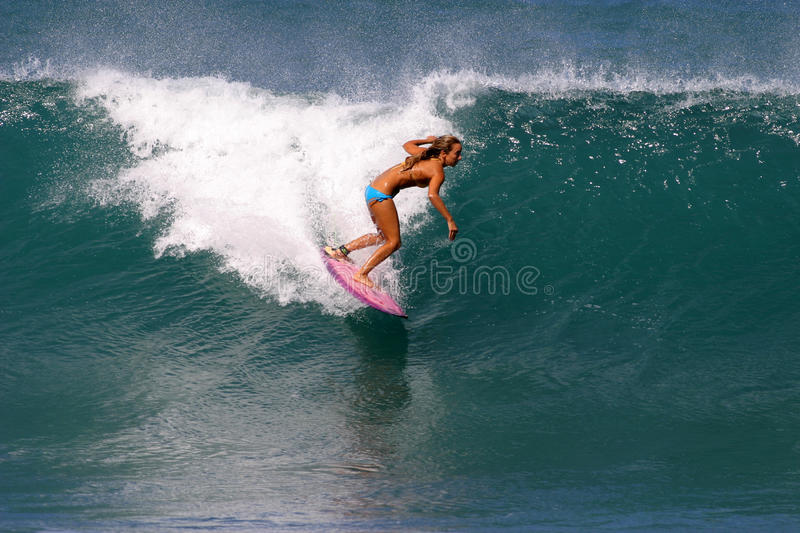 Download Surfer Cecilia Enriquez Surfing In Hawaii Editorial Photography - Image: 14674842
