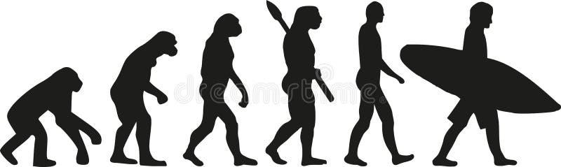 Surfer d'évolution illustration libre de droits