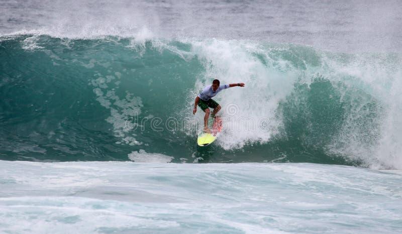 Surfer d'action photo libre de droits