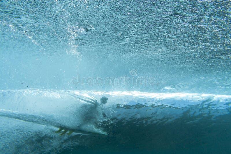 Surfer d'eau du fond images libres de droits