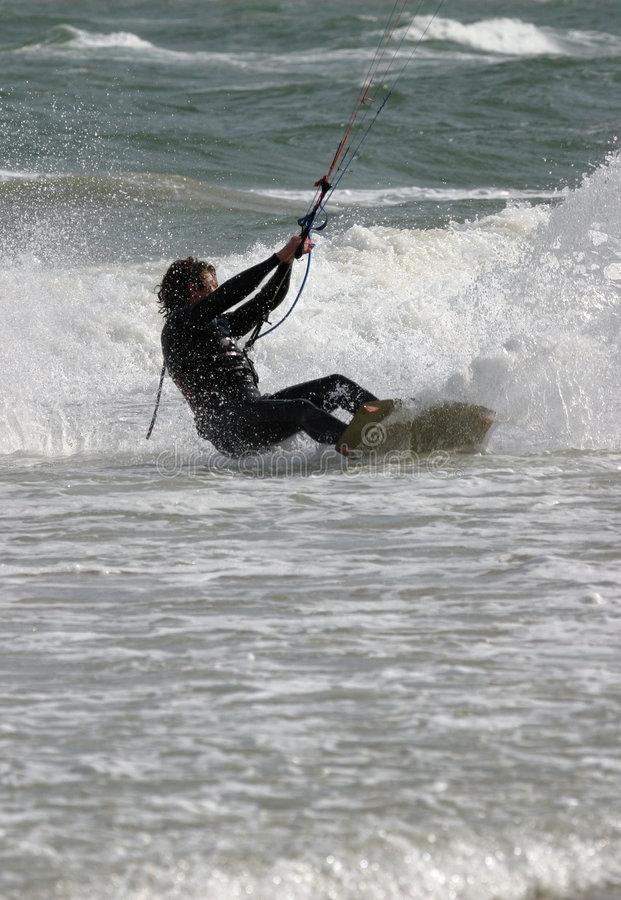 Surfer de cerf-volant images stock