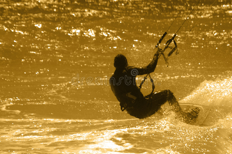 Surfer de cerf-volant photos stock