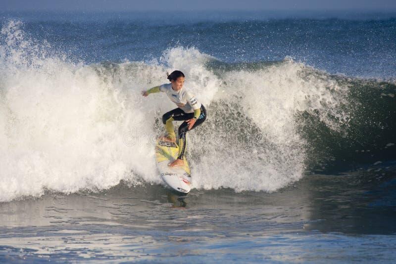 Surfer de femme photographie stock