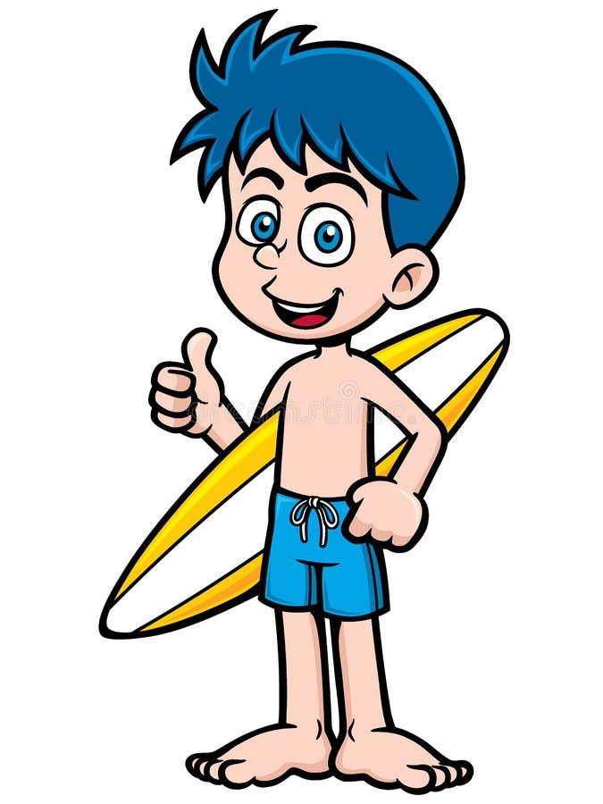 Surfer de garçon illustration stock