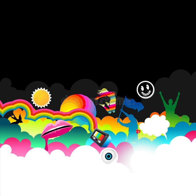 Surfer de nuage illustration de vecteur