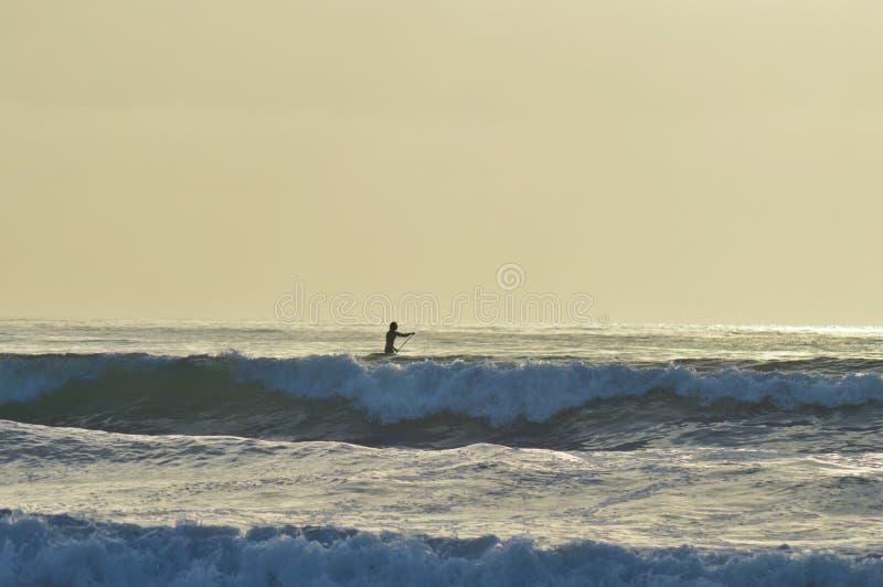 Surfer de plage de La Jolla photographie stock libre de droits