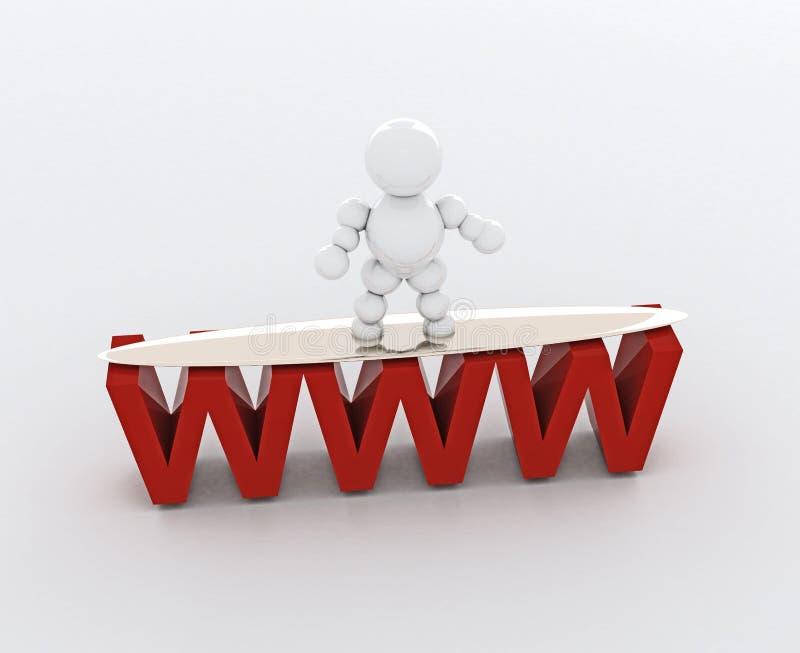 Surfer de Web illustration libre de droits