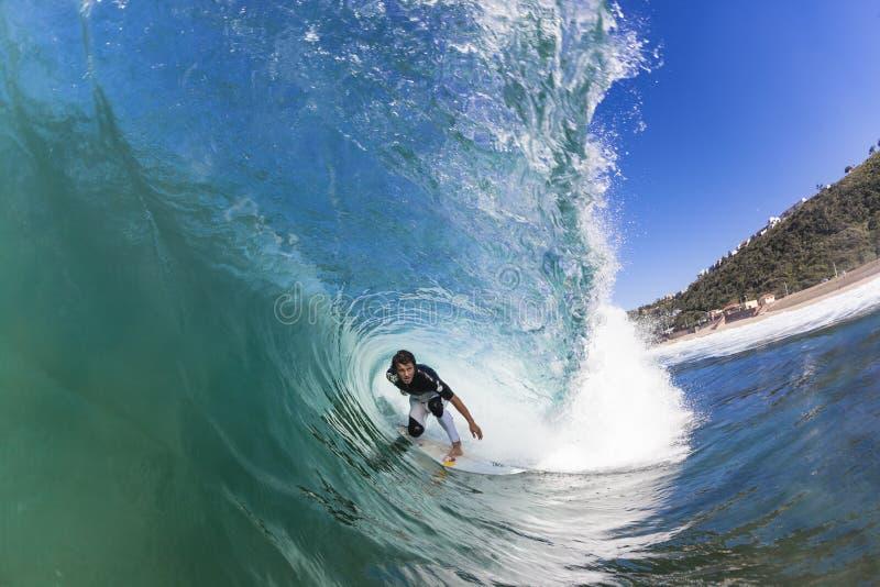 Surfer die BinnenGolf berijdt stock fotografie