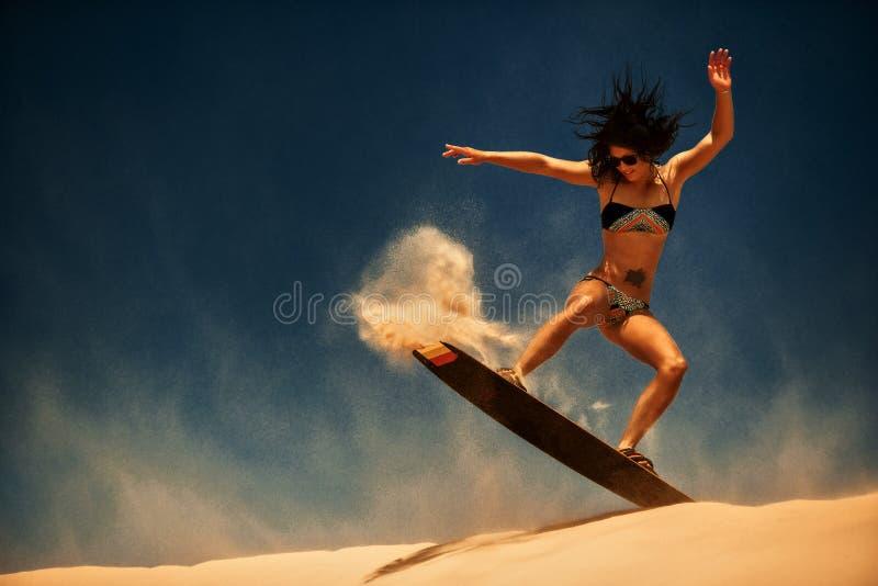 Surfer du cerf-volant Boarding image stock