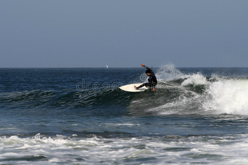 surfer du Mexique de baja d'abreojos photo stock