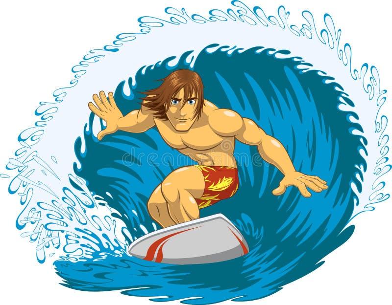 Surfer extrême illustration stock
