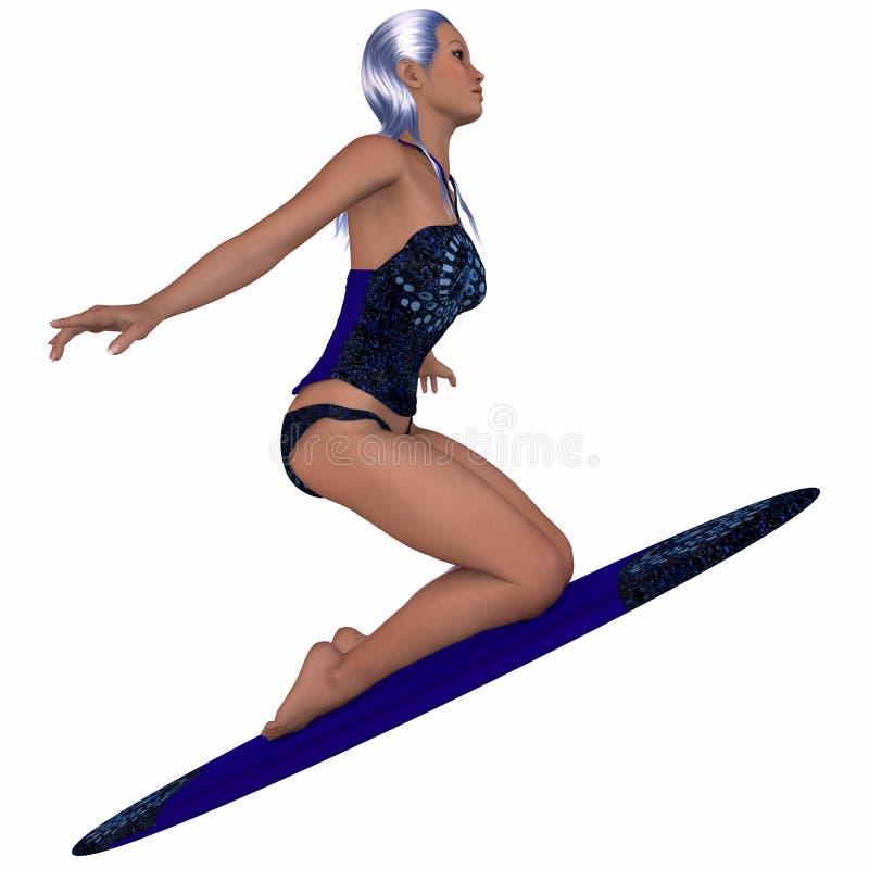 Surfer féminin illustration libre de droits