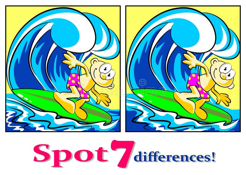 Download The Surfer - Find The Seven Differences Royalty Free Stock Photo - Image: 30766785