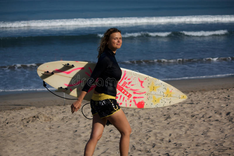 Download Surfer girl stock photo. Image of surfboard, surfing - 12651638