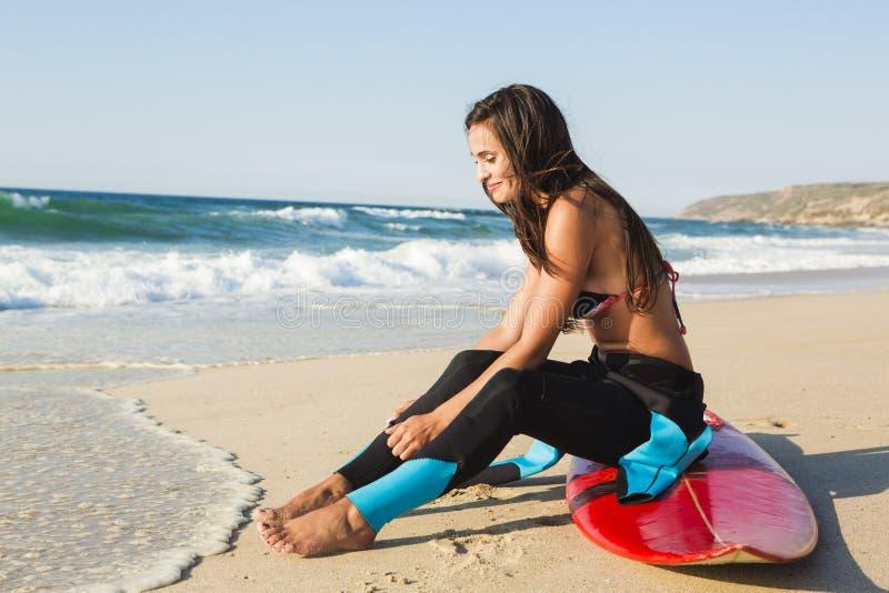 Surfer Girl royalty free stock photos