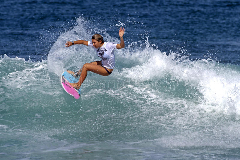 Download Surfer Girls Coco Ho Surfing In Haleiwa Hawaii Editorial Photography - Image: 17048992
