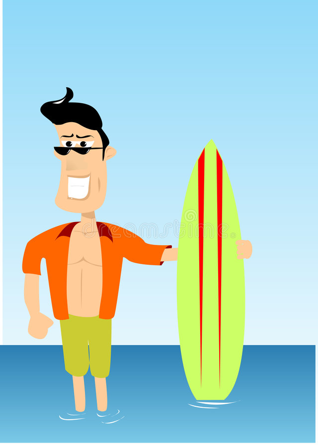 Surfer guy vector illustration