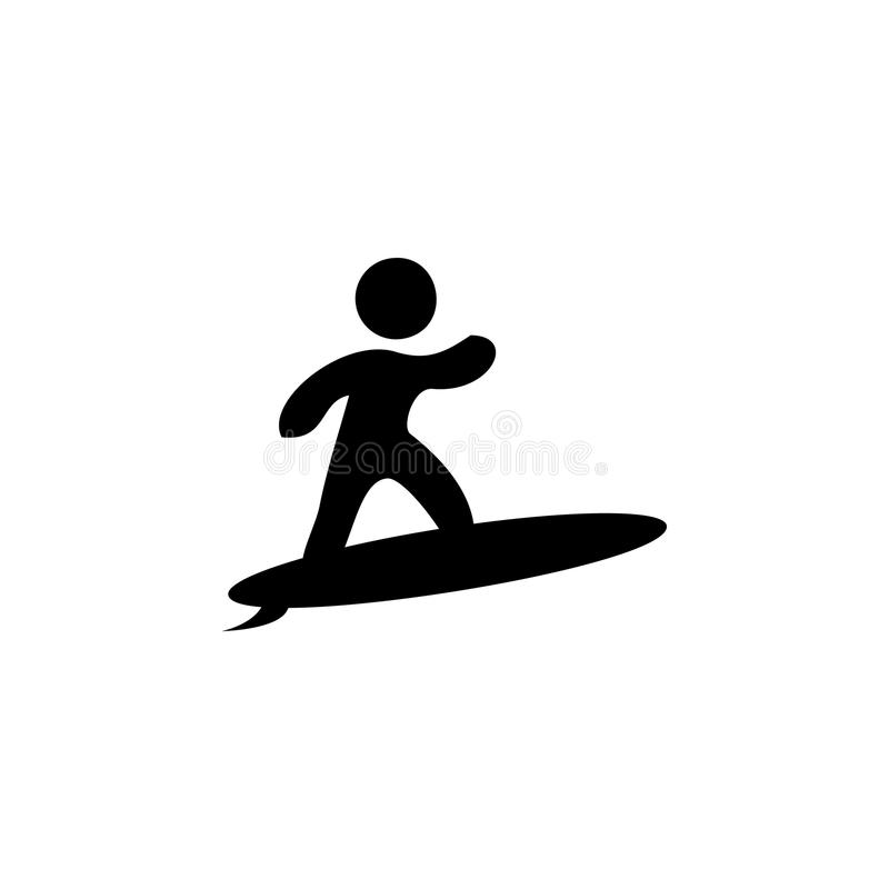 Surfer icon. Beach holidays simple icon. Travel element icon. Premium quality graphic design. Signs, outline symbols collection ic. On for websites, web design vector illustration