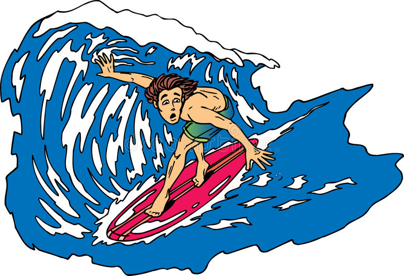 Surfer inquiété illustration stock