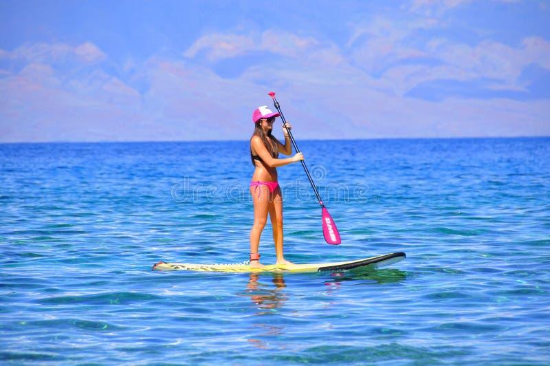 Surfer, Kaanapali, Maui, Hawaï photos libres de droits