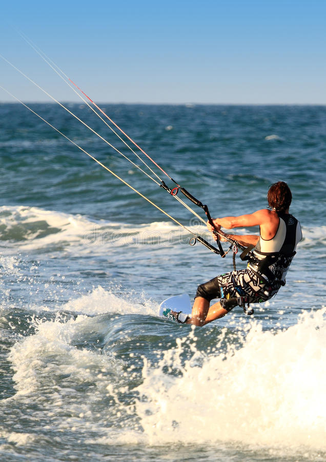 Download Surfer Kite Surf Cullera  Valencia Province Spain Stock Photo - Image: 23266906