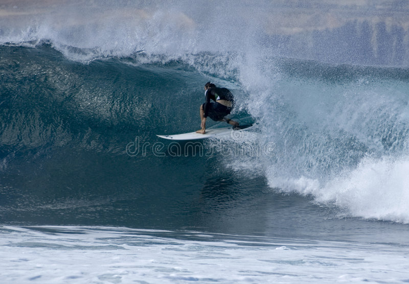 Surfer in Las Palmas 2 stock photography