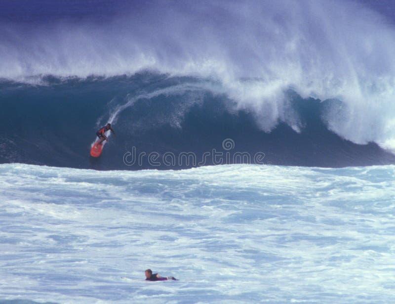 Surfer at North Shore Oahu