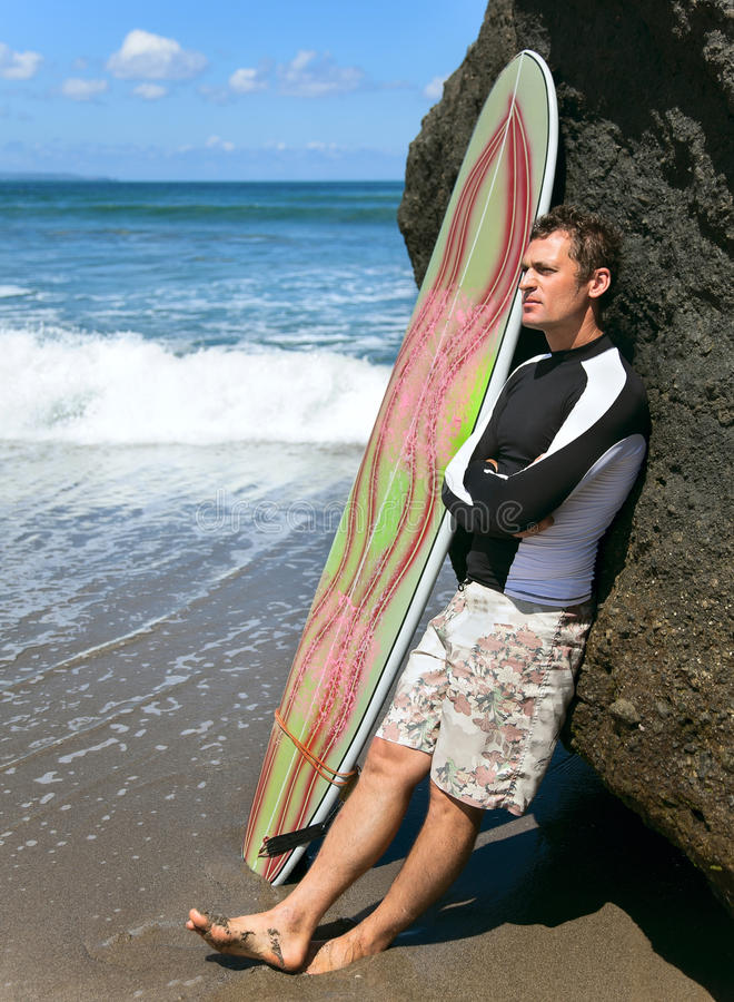Download Surfer on the ocean stock photo. Image of masculine, male - 25168604