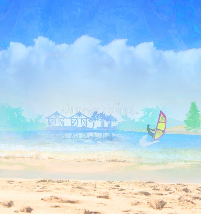 Download Surfer op een zonnige dag stock illustratie. Illustratie bestaande uit macht - 54077823