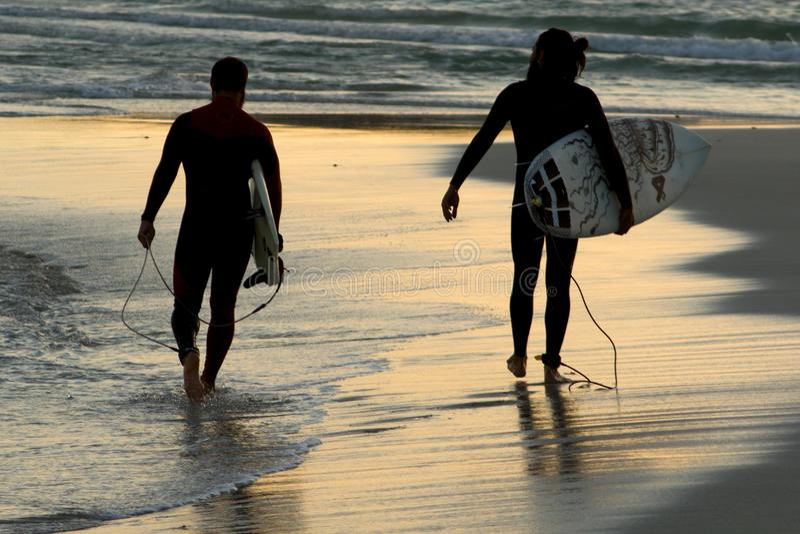 Surfer& x27; s fotografia stock
