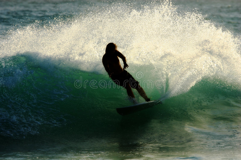 Download Surfer Silhouette 2 Royalty Free Stock Images - Image: 1709839
