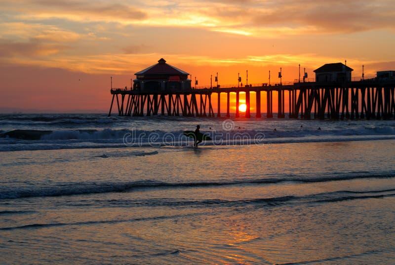Download Surfer Silhouette stock photo. Image of island, orange - 2018470