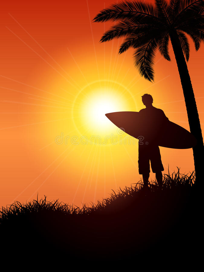 Download Surfer Silhouette Royalty Free Stock Images - Image: 24082199