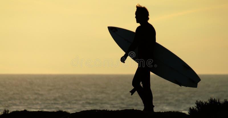 Surfer Silhouette stock photo