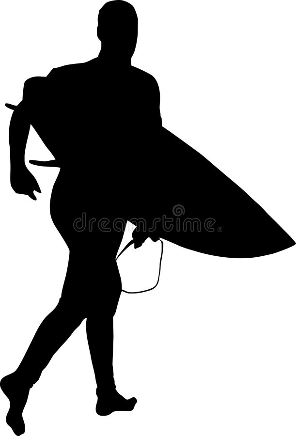 Download Surfer silhouette stock vector. Image of ocean, rescue - 3472245