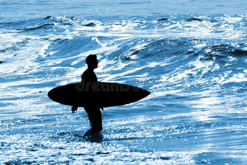 Download Surfer Silhouette stock image. Image of dude, shape, ocean - 7966669
