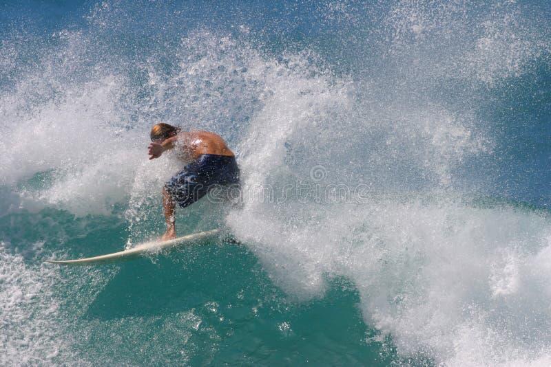 Download Surfer-Spray stockbild. Bild von hawaii, welle, surfen, hawaiianer - 27323