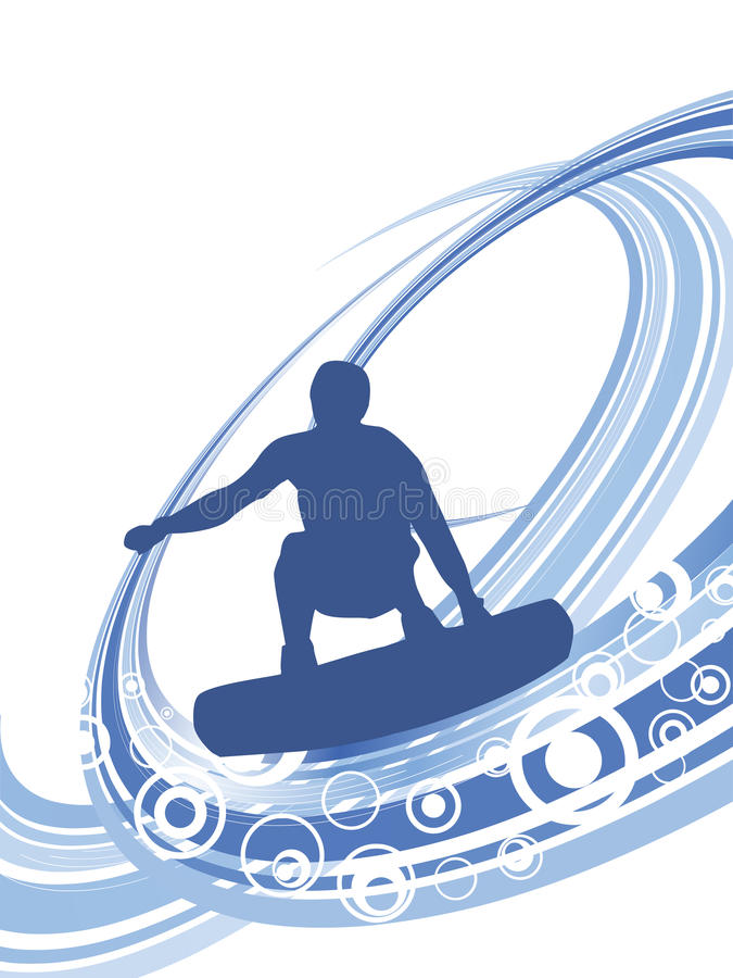Download Surfer On Summer Background Royalty Free Stock Photography - Image: 25168707