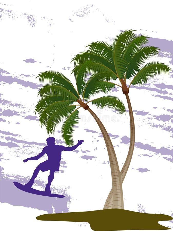 Download Surfer On Summer Background Stock Illustration - Illustration of dynamic, exotic: 29130216