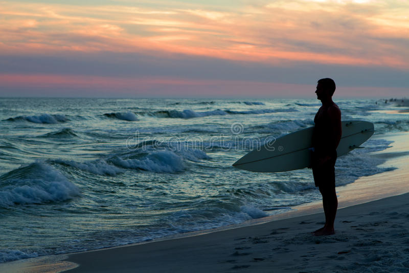 Download Surfer At Sunset stock image. Image of waves, waiting - 24095379