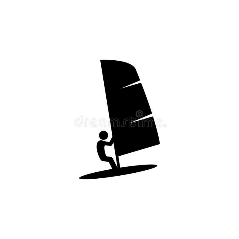 Surfer, water icon. Element of water transport icon for mobile concept and web apps. Detailed surfer, water icon can be used for. Web and mobile on white stock illustration