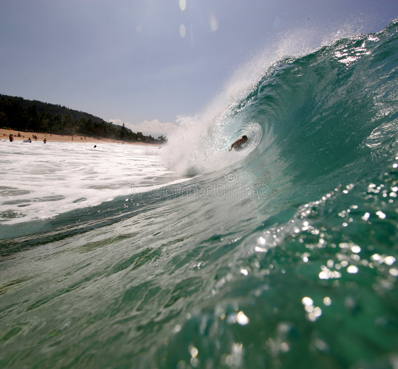Surfer in the wave stock photos