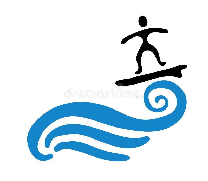 surfer on the wave vector illustration stock vector illustration rh dreamstime com wavevector of light wave vector k