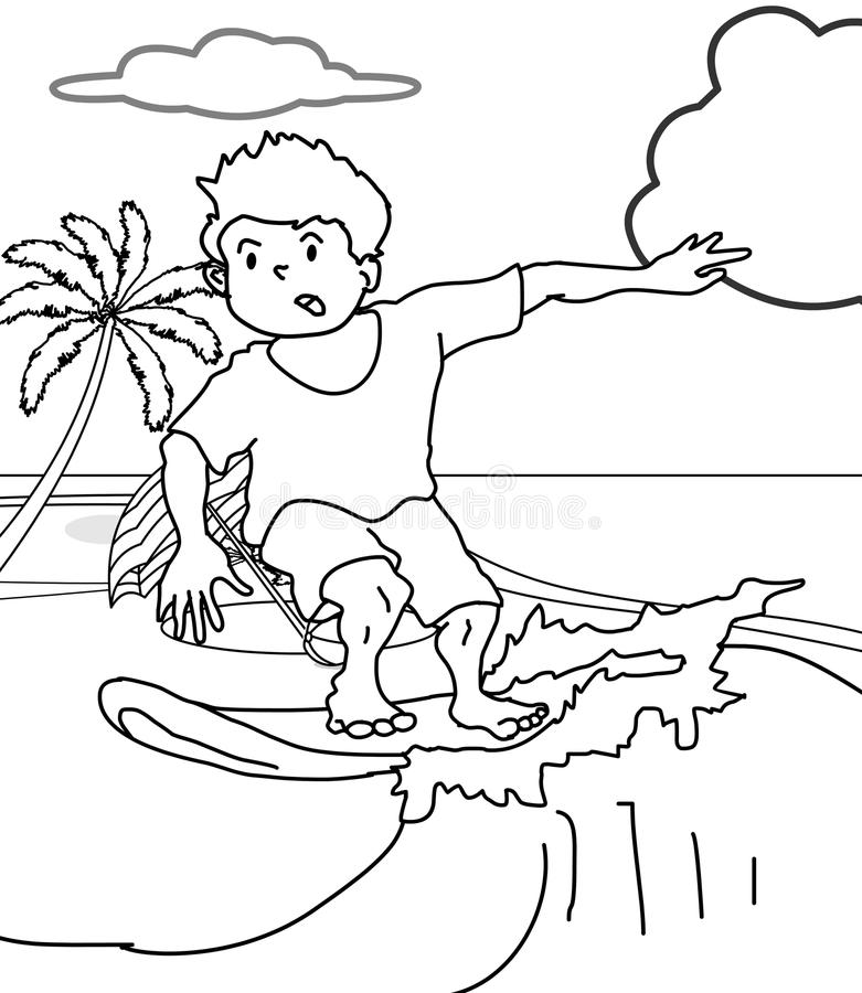 Surferfarbtonseite vektor abbildung