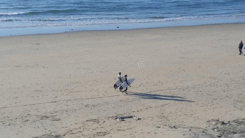 surfers δύο στοκ φωτογραφίες